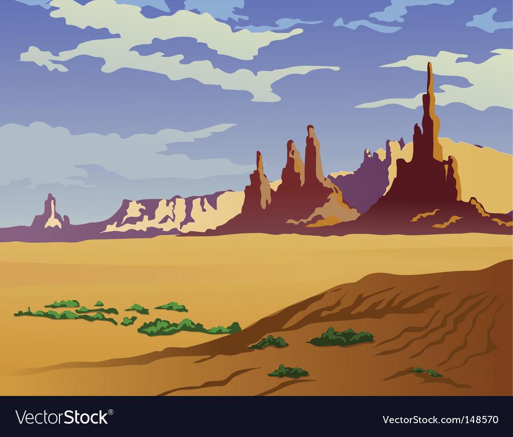 Arizona landscape vector image