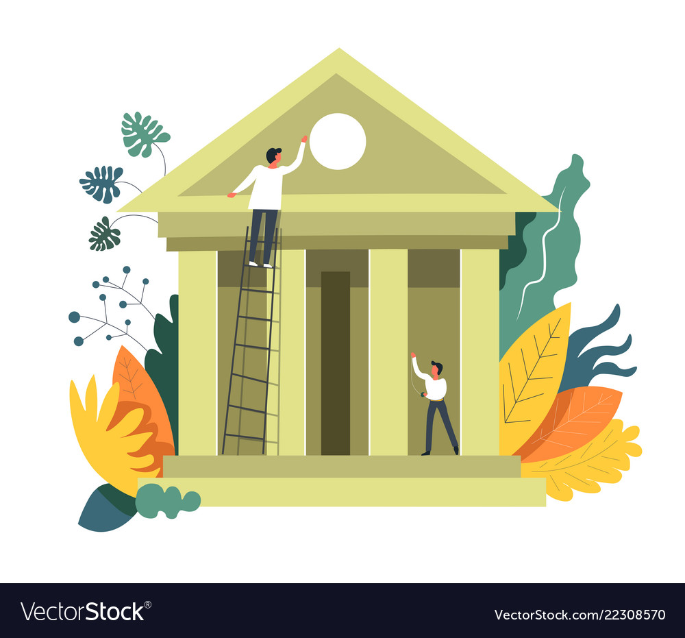 Banking people building institution and developing