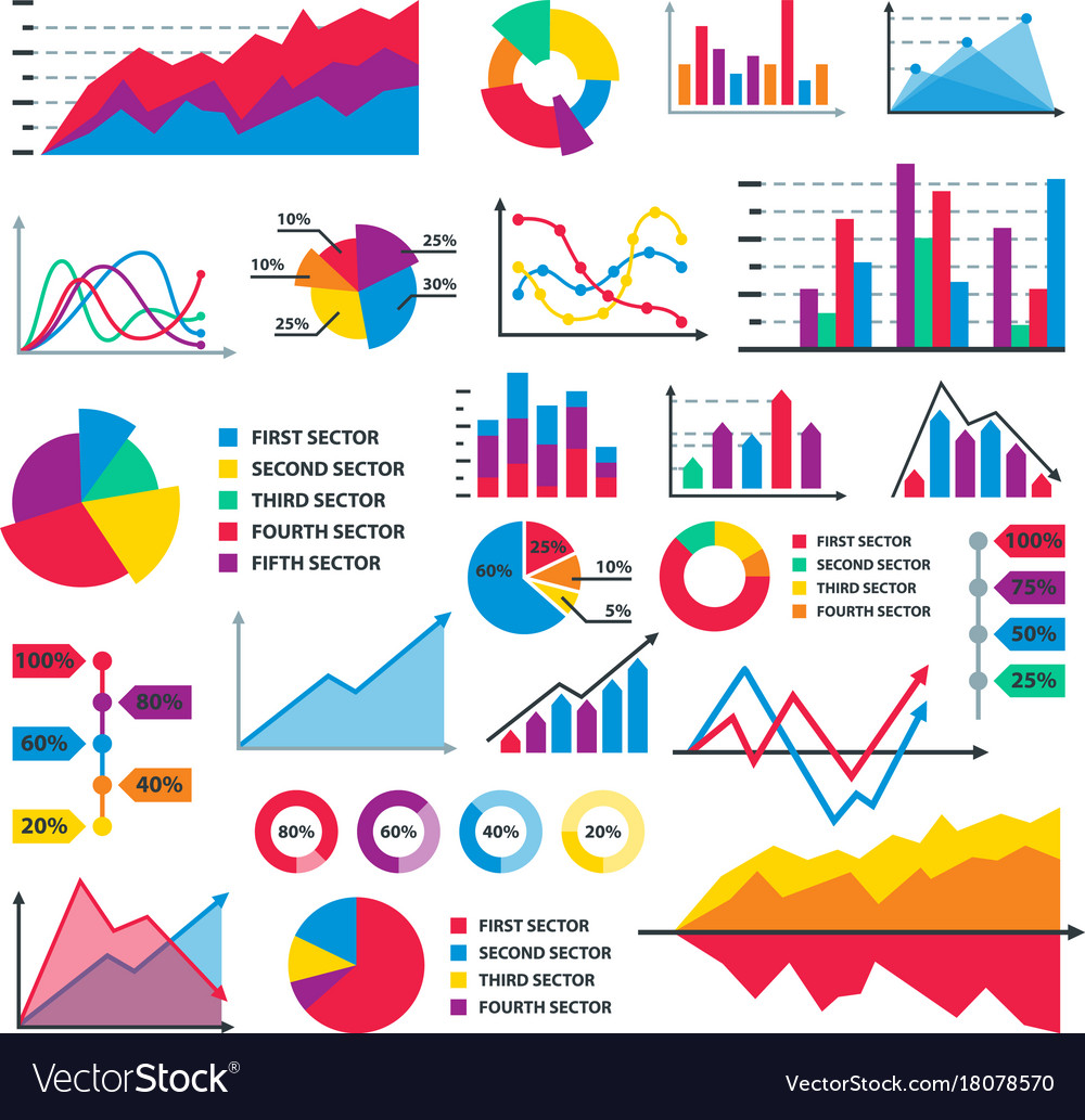 Diagram Chart Graph Elements Business Royalty Free Vector