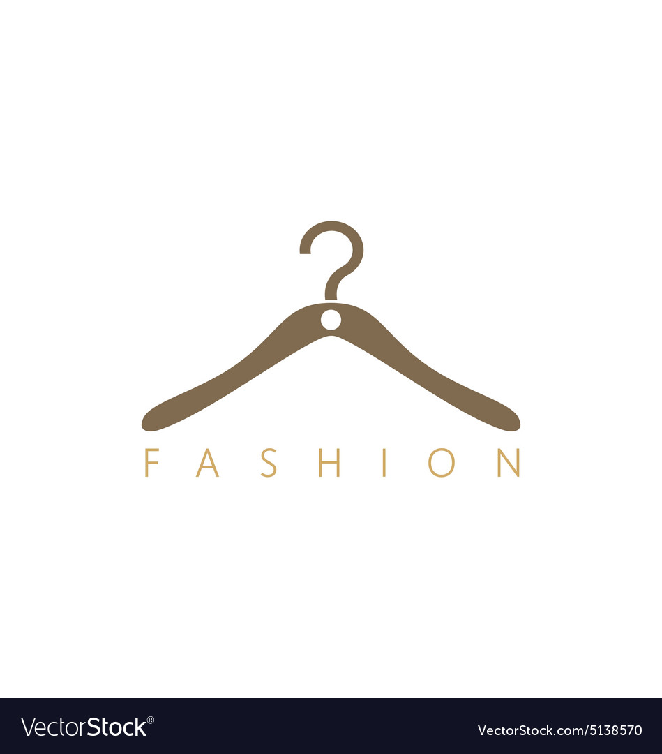 Fashion hang cloth shop logo vector image