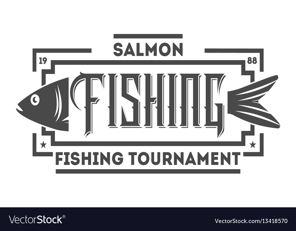 Fishing tournament vintage isolated label