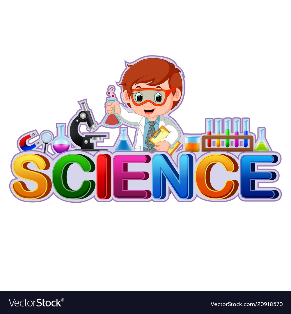 Font design for word science Royalty Free Vector Image