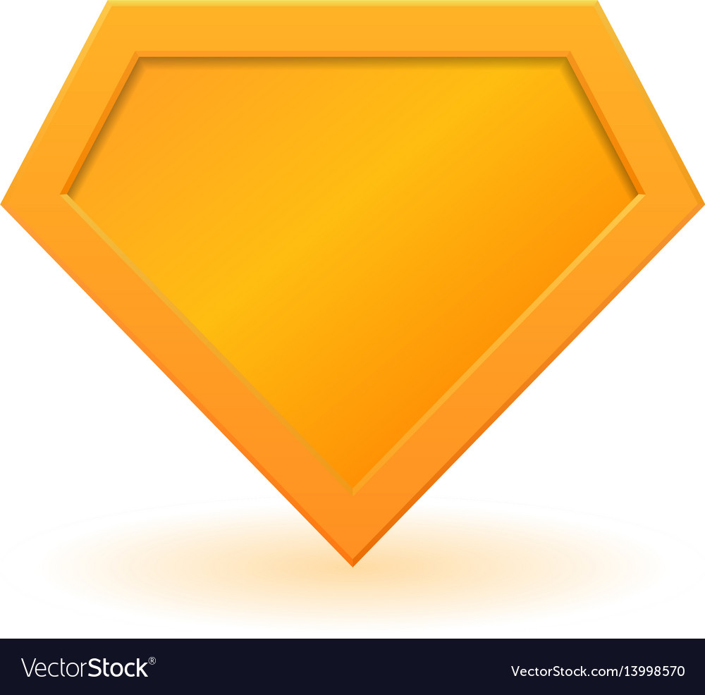 Golden superhero logo template vector image