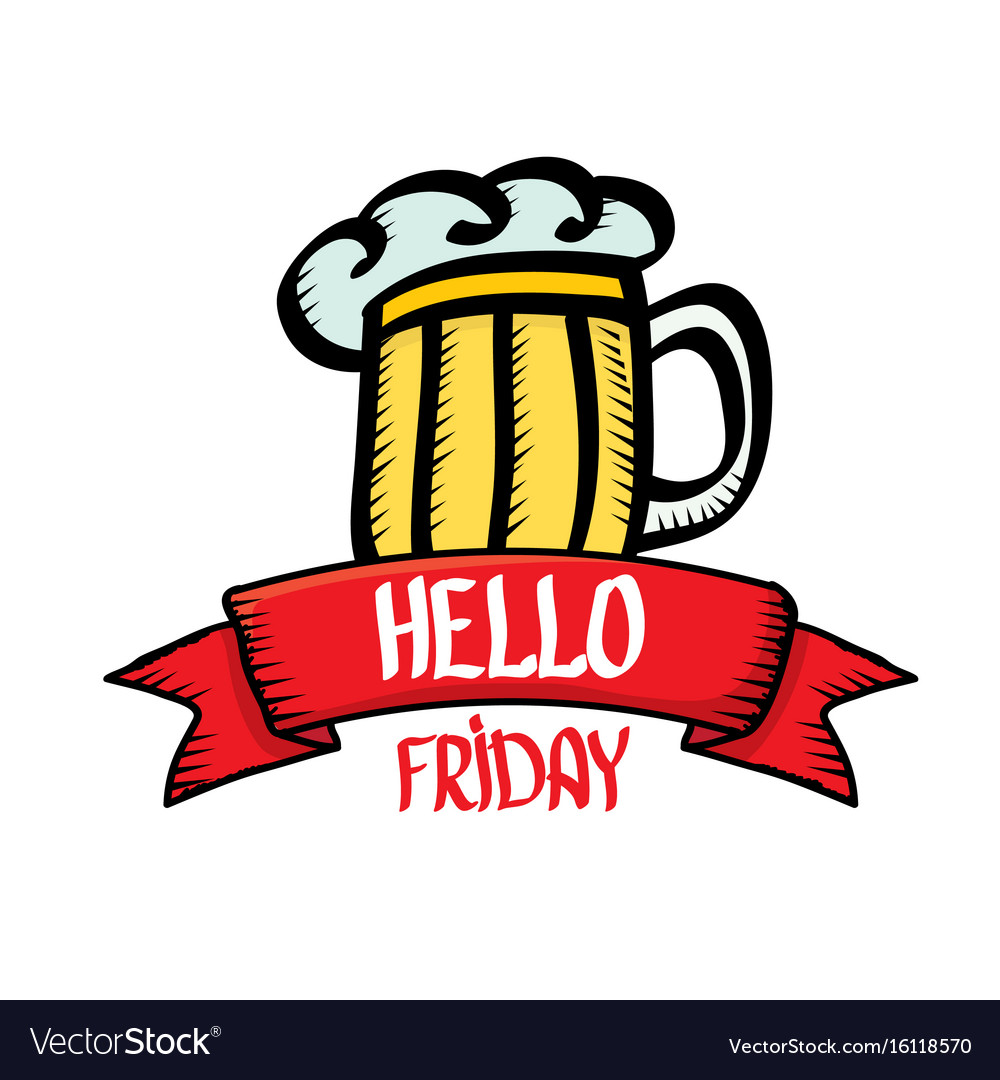 Happy friday background vector image