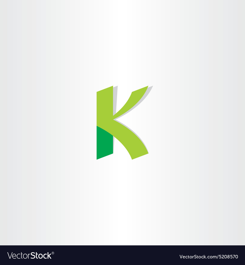 Letter K Green Logo Element Royalty Free Vector Image