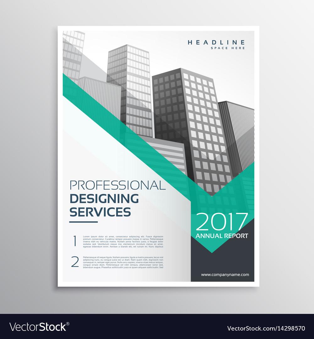 professional brochure or leaflet template design vector image
