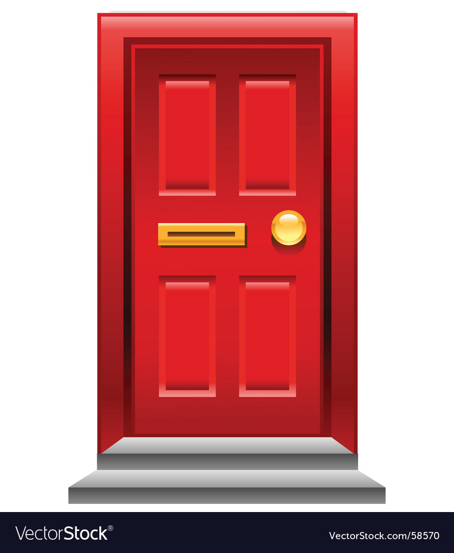 Red door icon