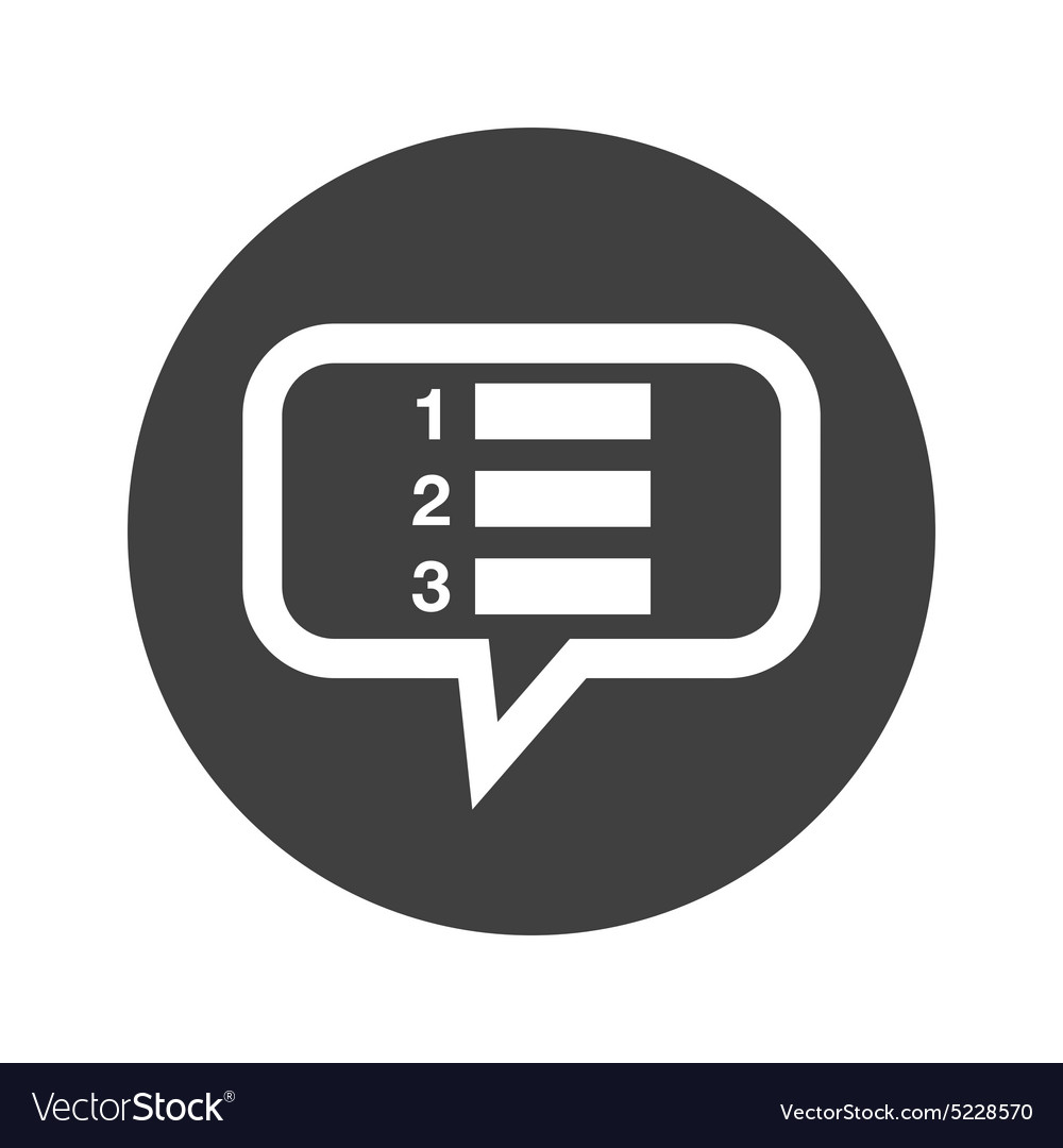round numbered list dialog icon royalty free vector image
