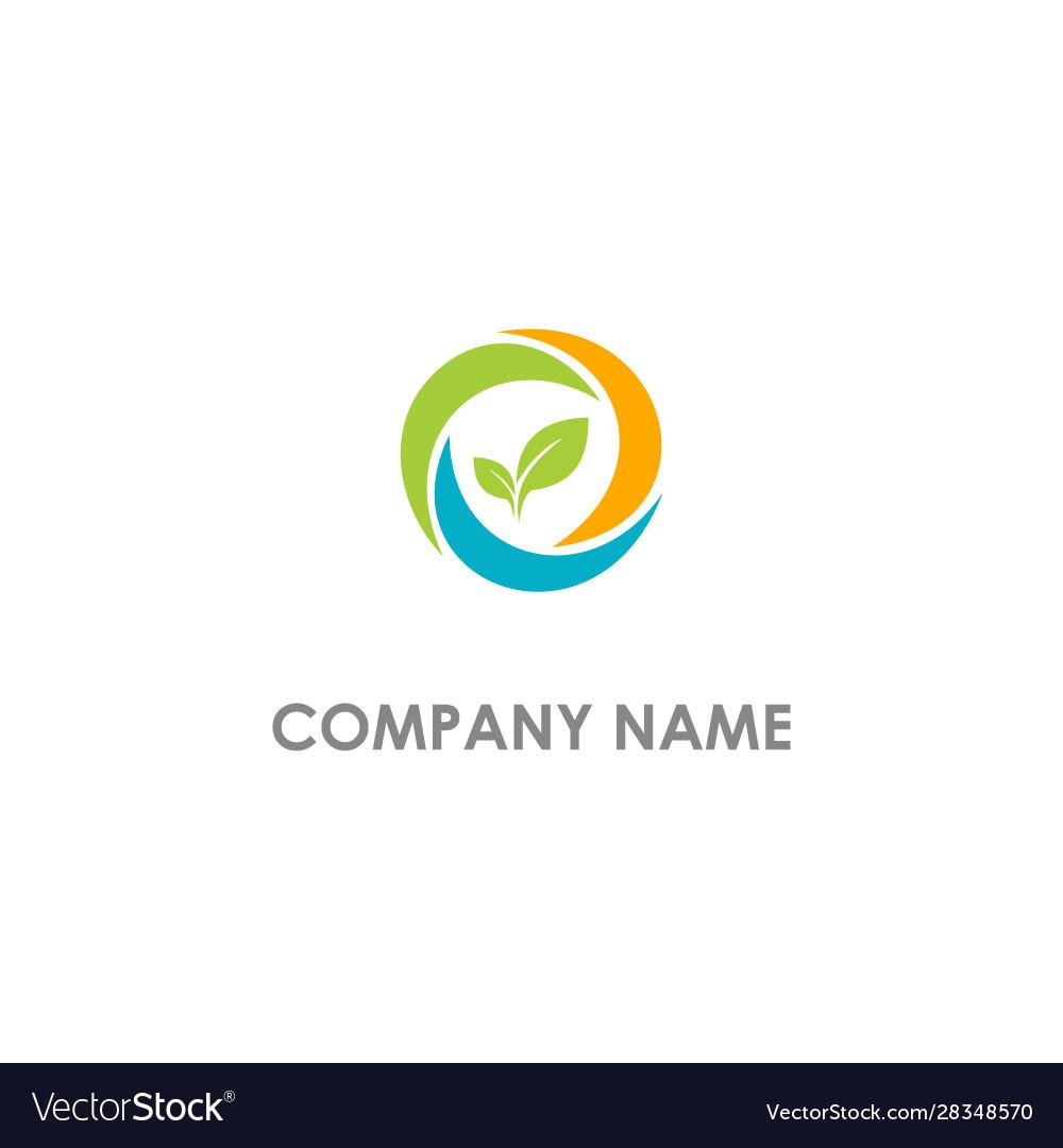 Seed leaf organic bio logo