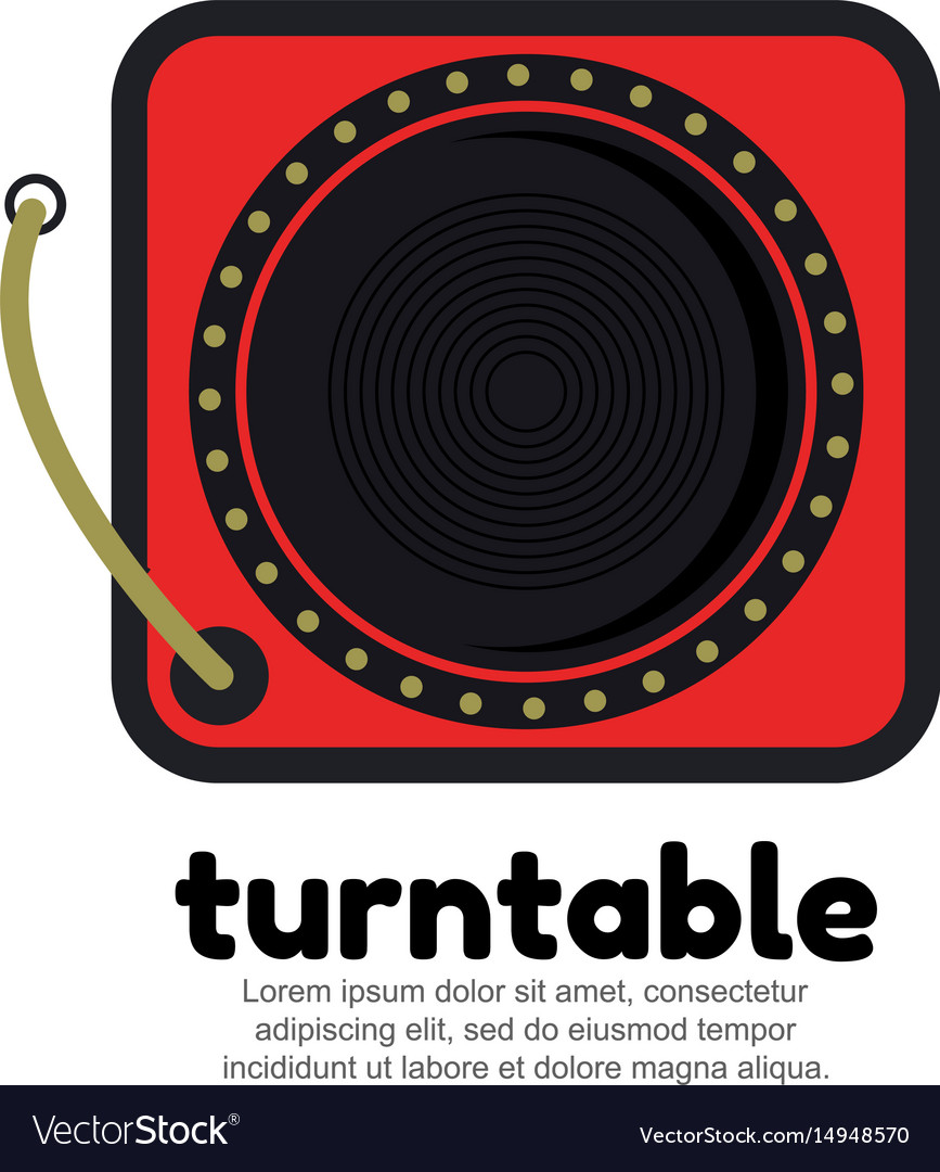 Template logo for turntable