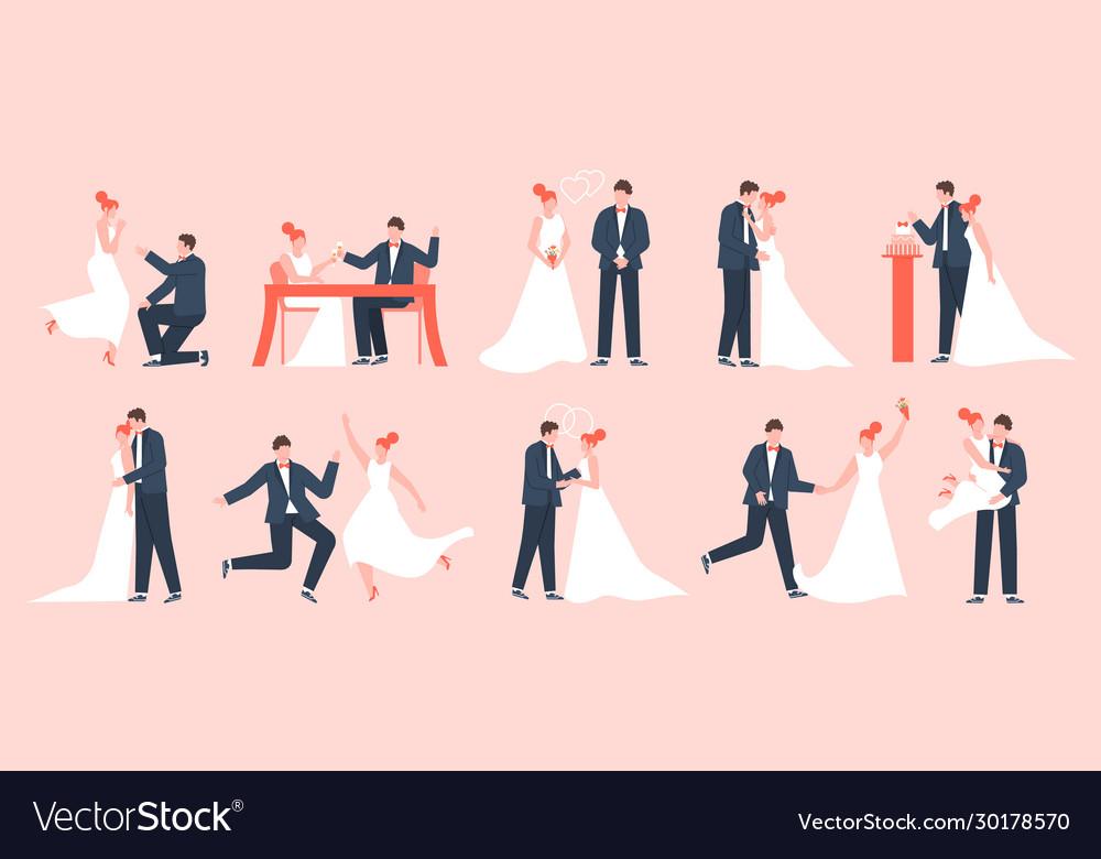 Wedding couple marriage bride and groom