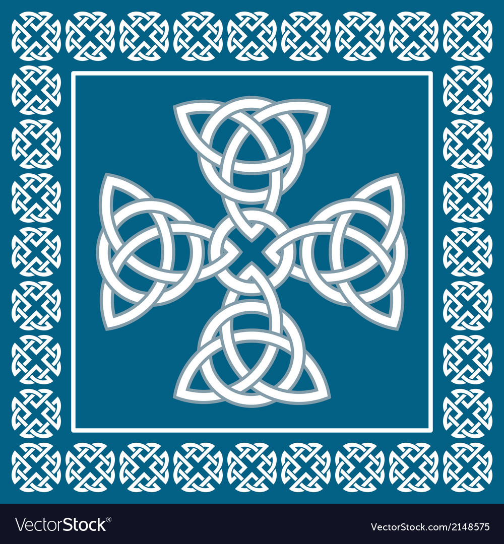 Celtic cross ornament symbolizes eternity