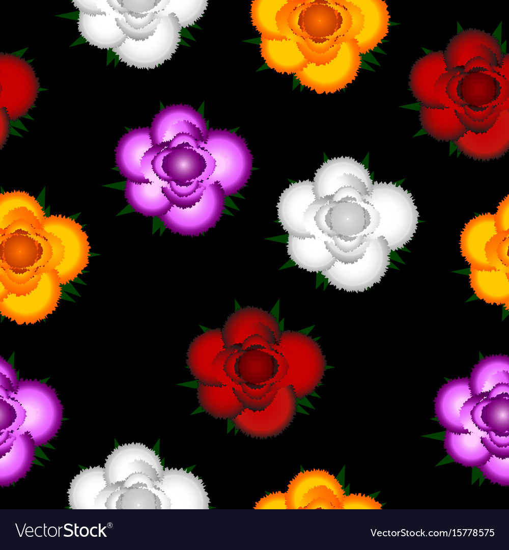 Colorful roses seamless pattern background vector image