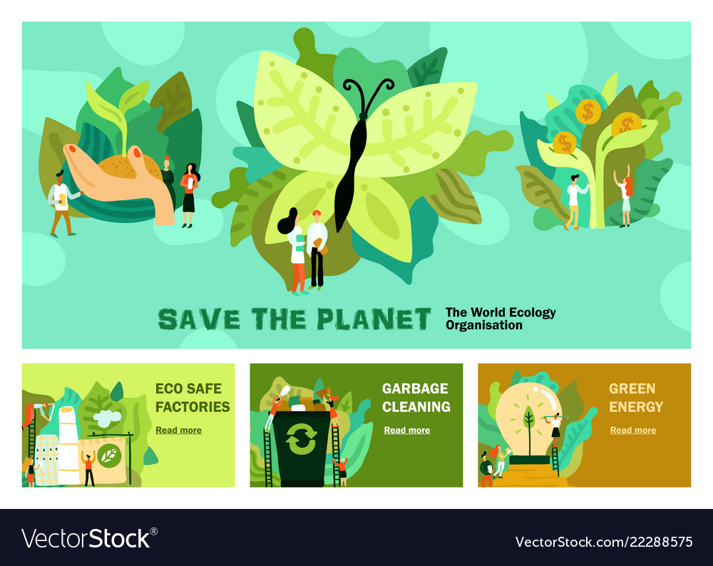 Environmental restoration horizontal banners