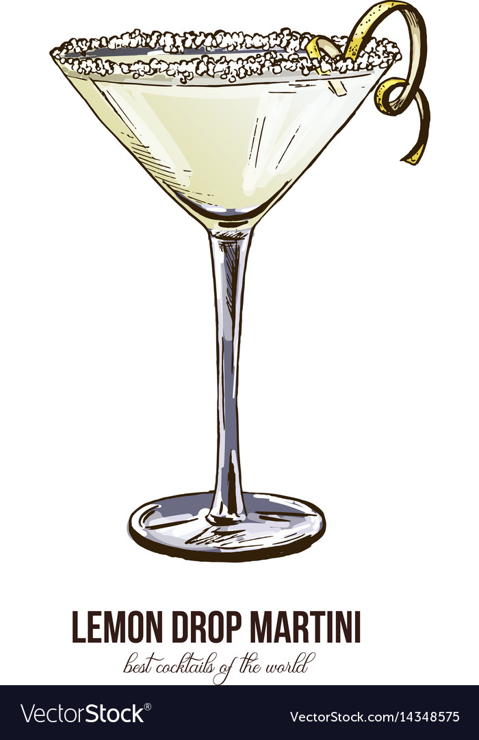 Lemon drop martini vector image