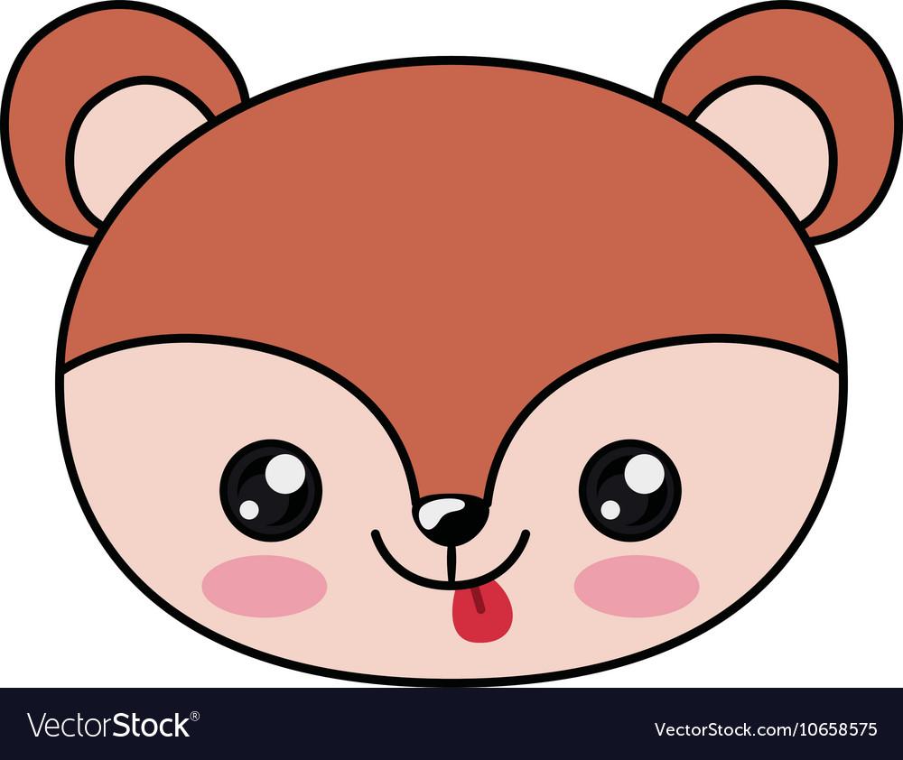 Squirrel Kawaii Cartoon Design Royalty Free Vector Image