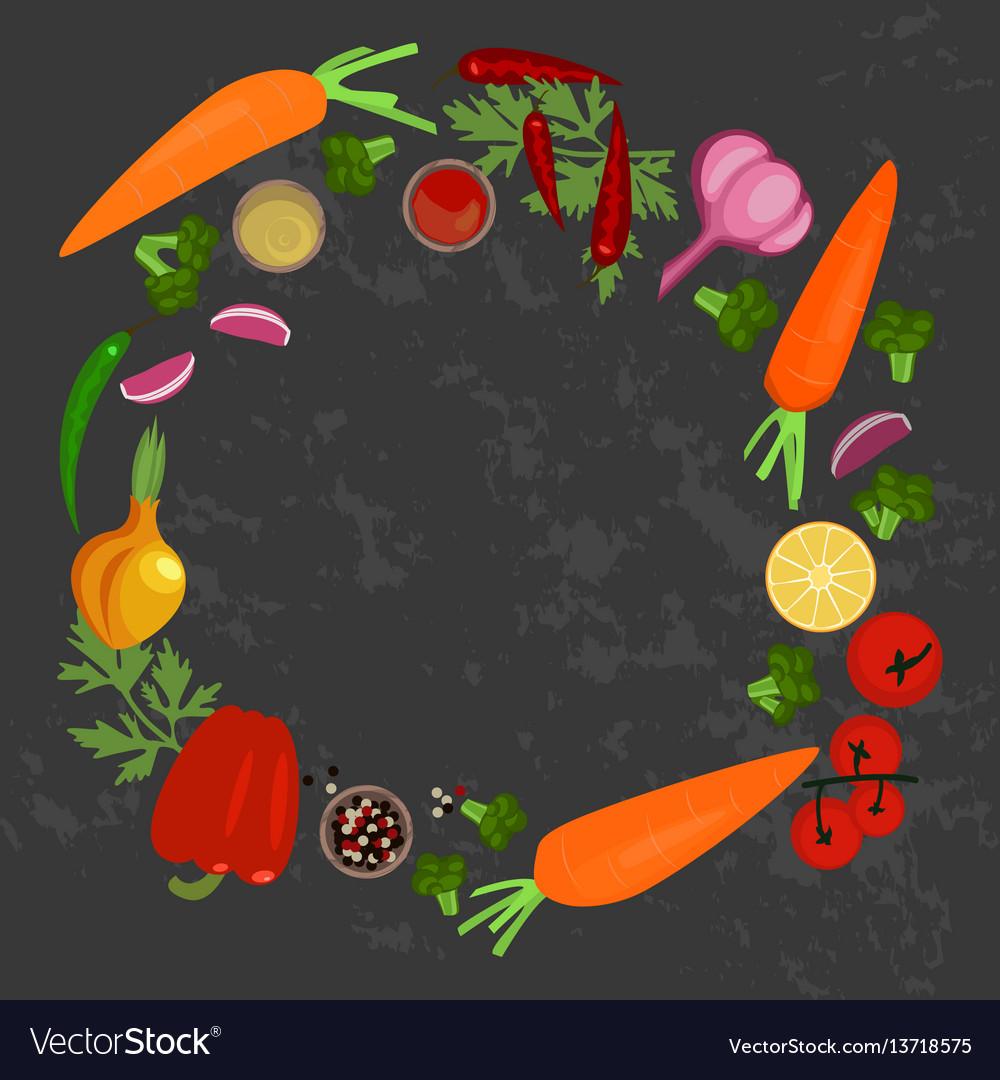 Vegetables and ingredients