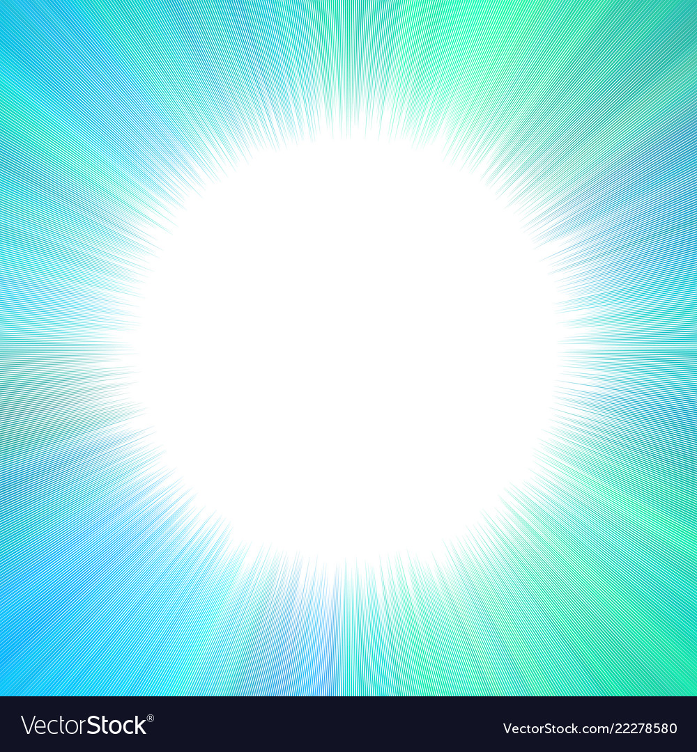 Abstract hypnotic starburst background with blank