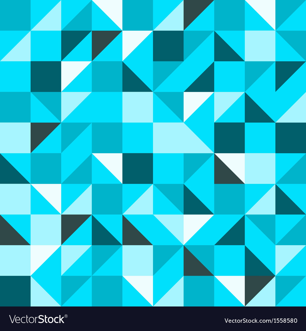 Blue Seamless Triangle Pattern