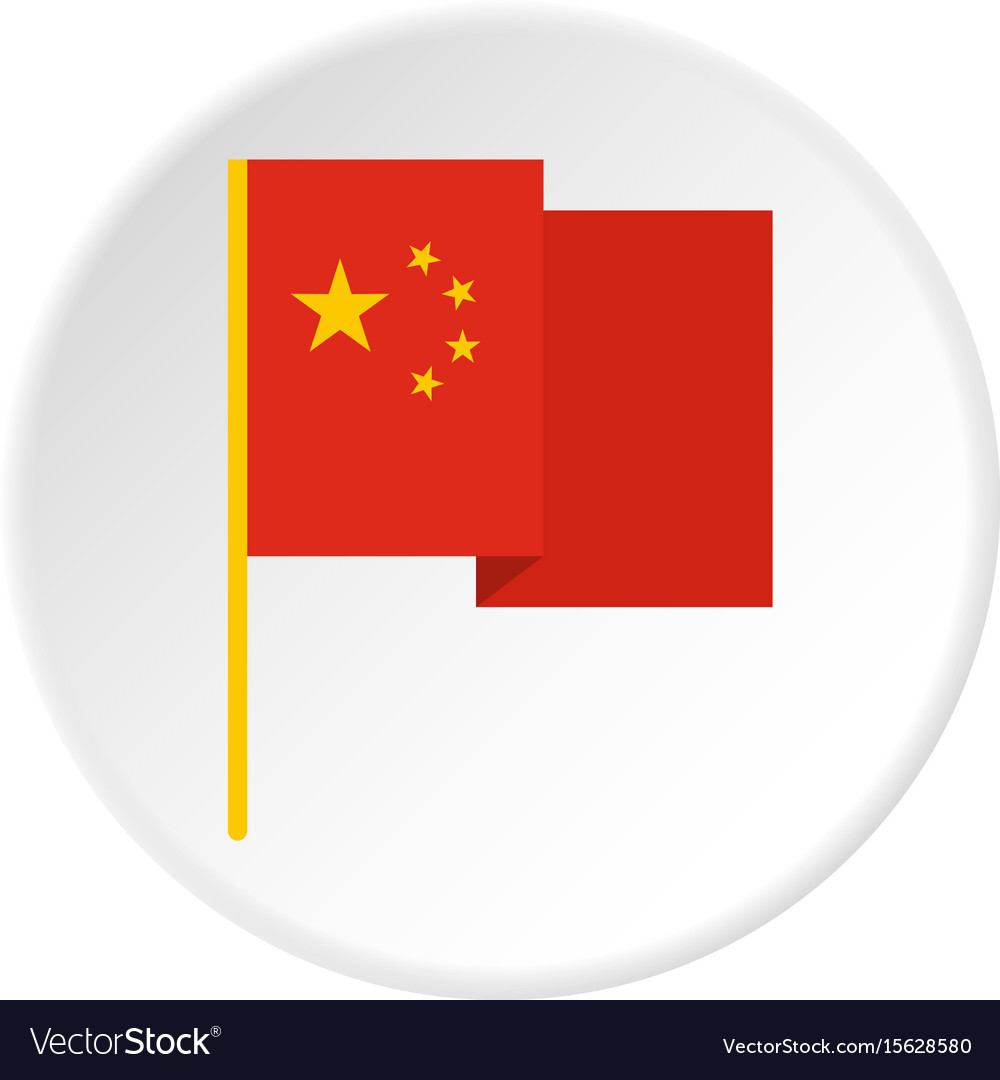 Chinese national flag icon circle