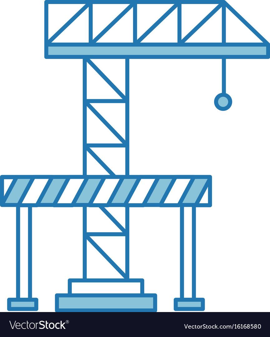 Crane construction with barricade