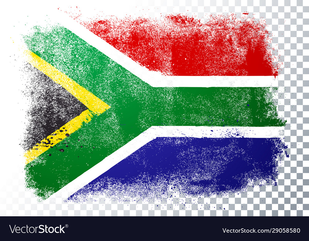 Distressed grunge flag south africa