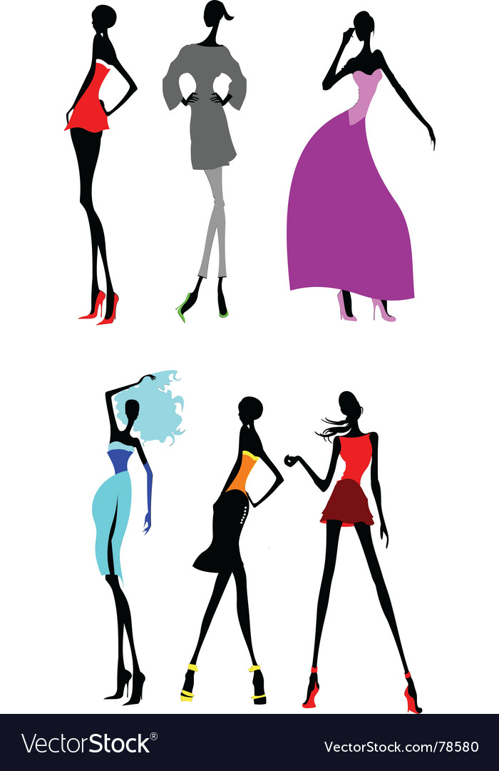 fashion models royalty free vector image vectorstock rh vectorstock com fashion vector free download fashion vector free download