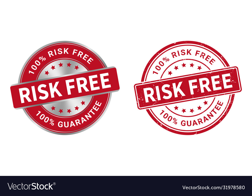 Grunge stamp and silver label risk free