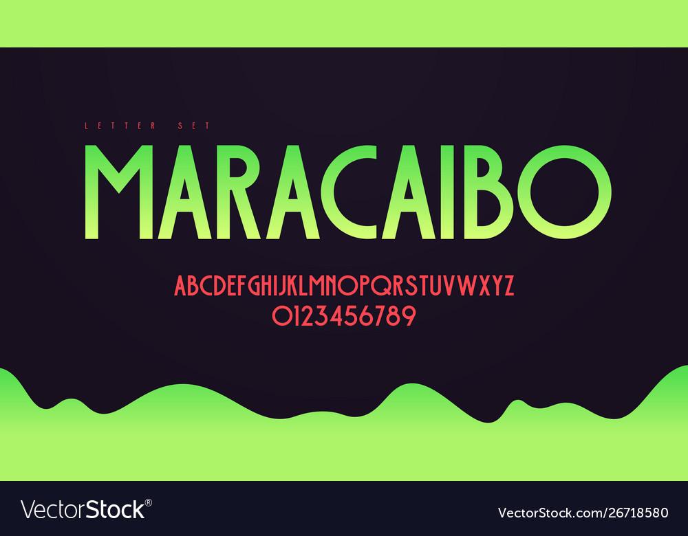 Modern art deco alphabet uppercase letter