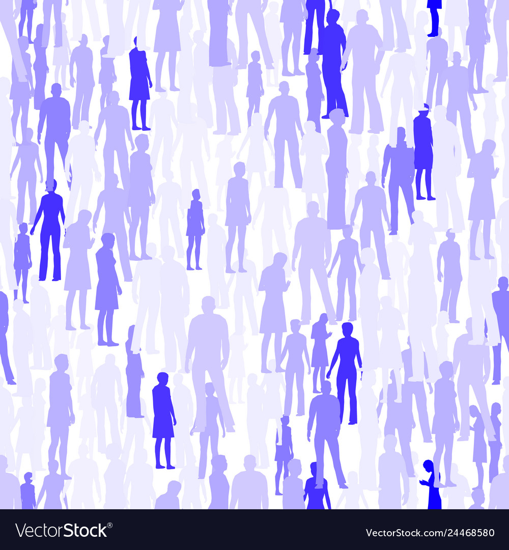 Seamless texture with people silhouettes texture