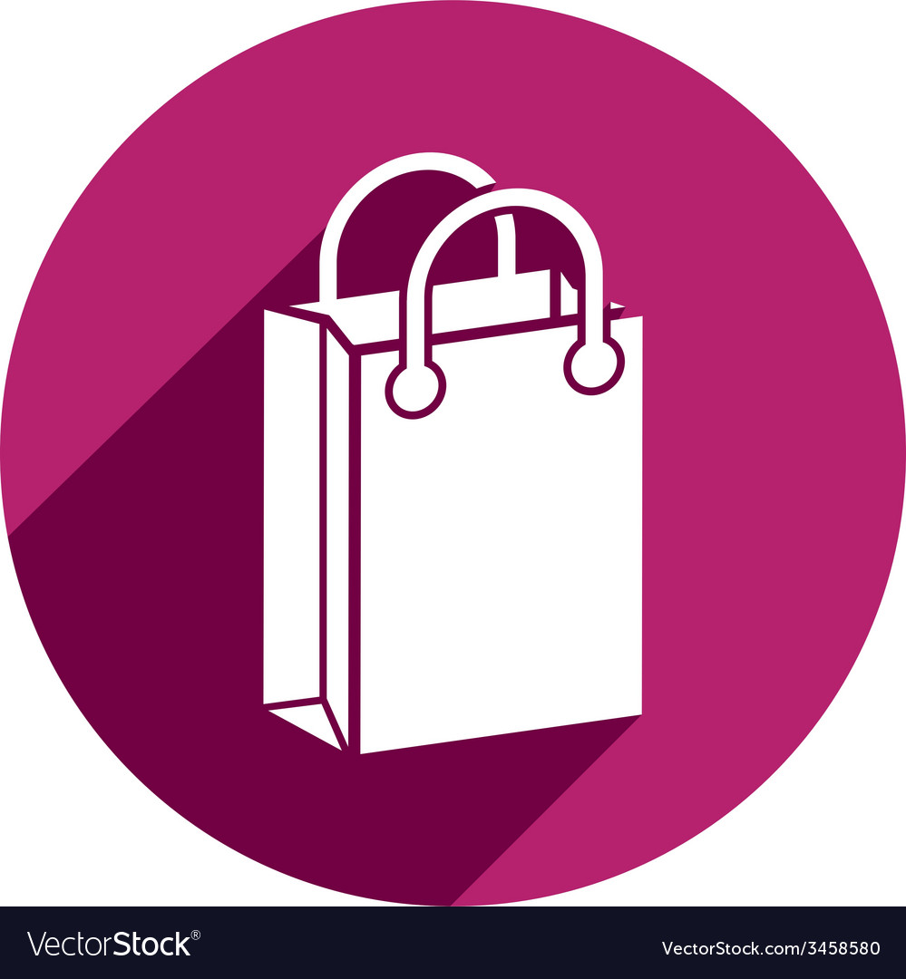 Shopping bag icon isolated