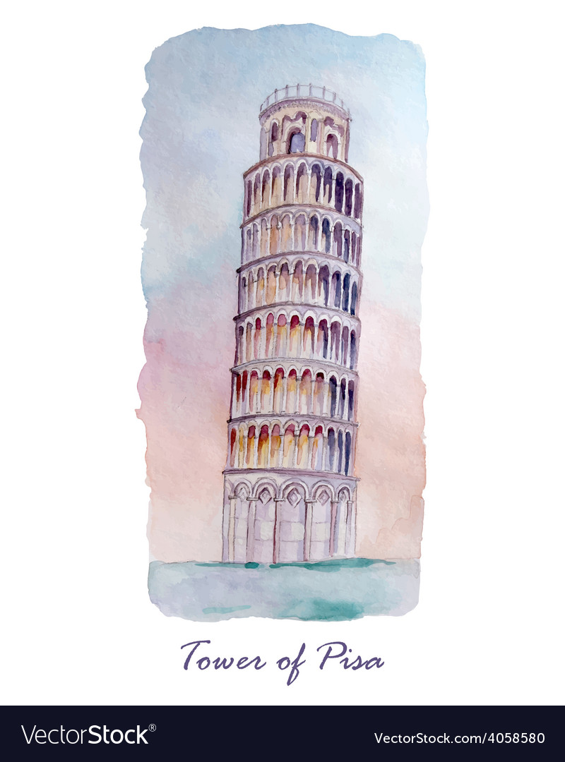 Travel card with tower of Pisa
