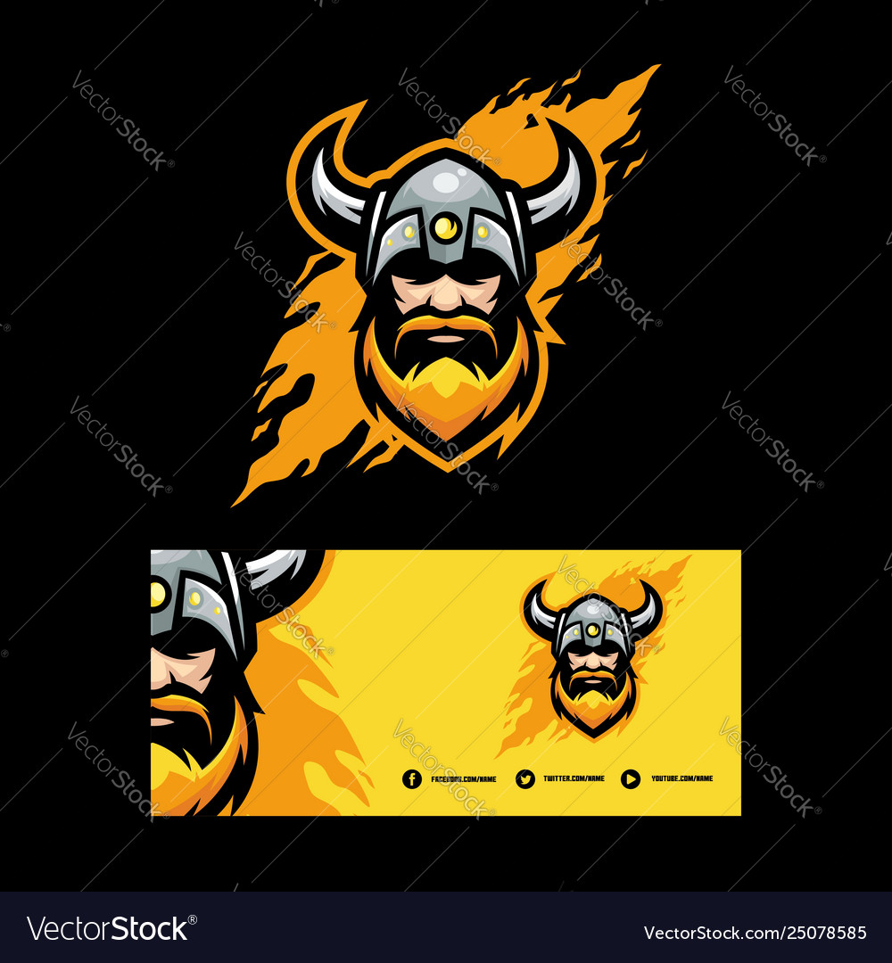 Abstract viking design template
