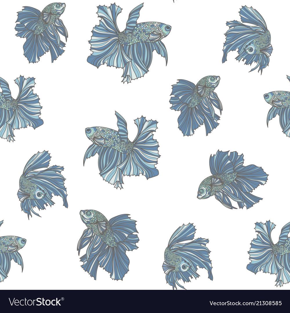 Beautiful fish seamless pattern