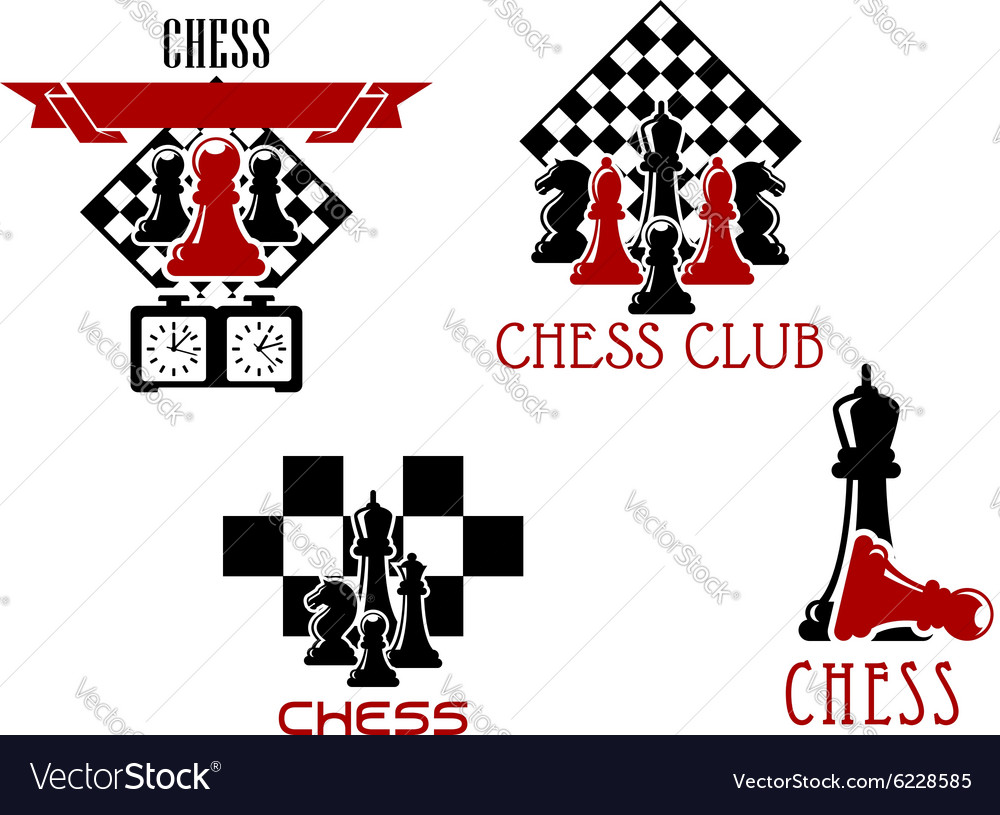 Chess Club And Tournament Symbols Royalty Free Vector Image