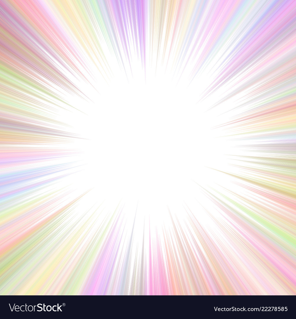 Colorful abstract psychedelic ray burst