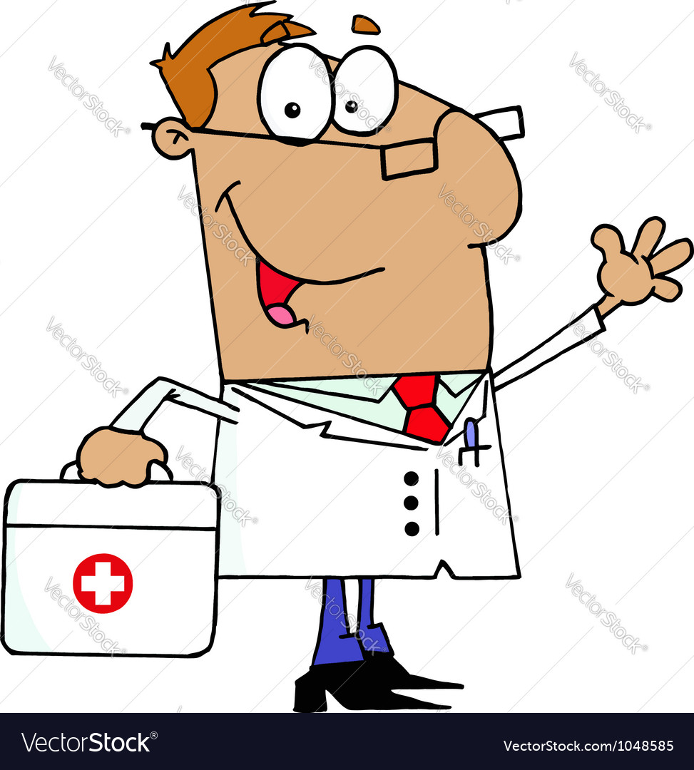 Doctor Man Carrying His Medical Bag