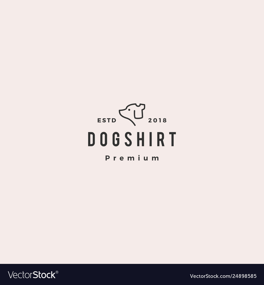 Dog shirt logo icon vector