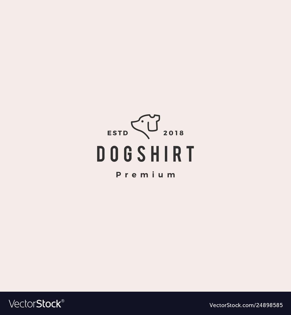 Dog shirt logo icon