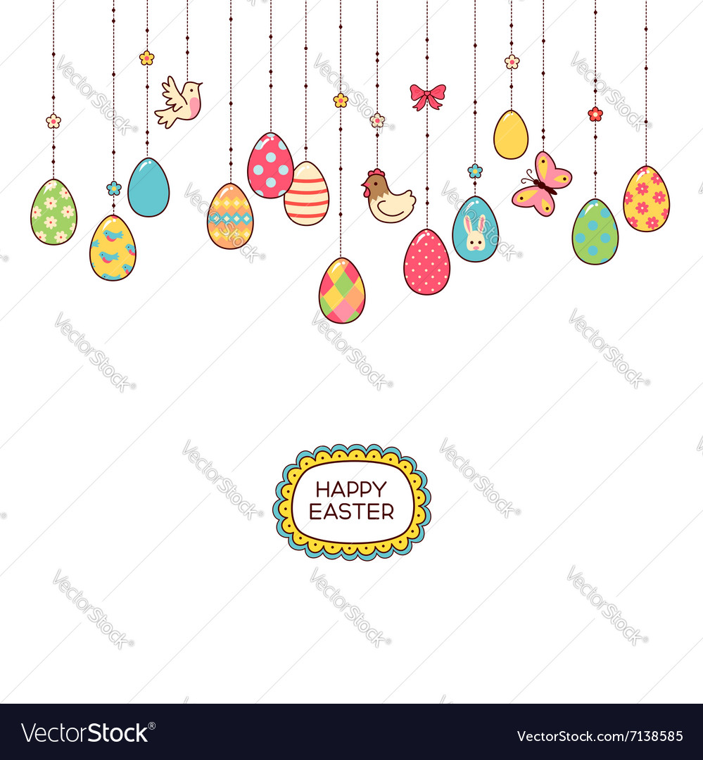 Easter hang eggs