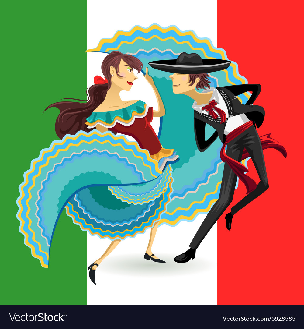 Jarabe Mexico National Dance Mexican Hat Dance vector image