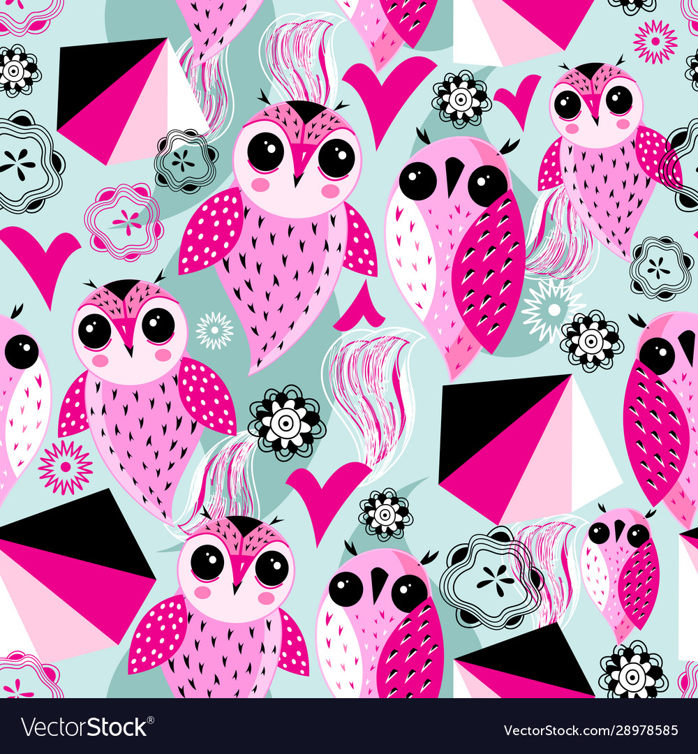 Seamless abstract pattern unusual graphic love