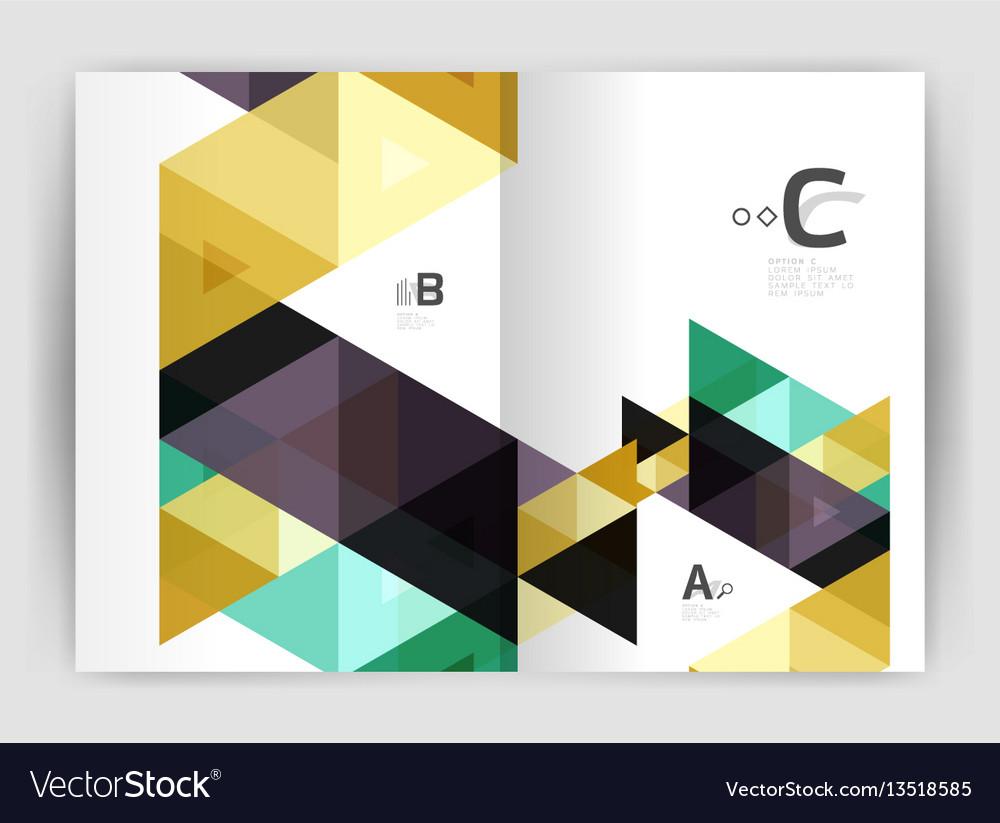 Triangle print template