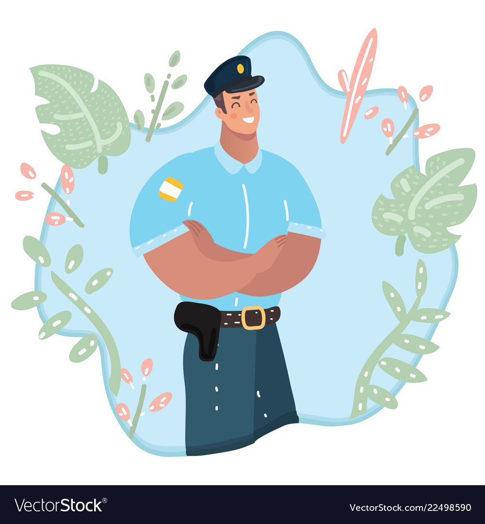 Cute policeman character professional