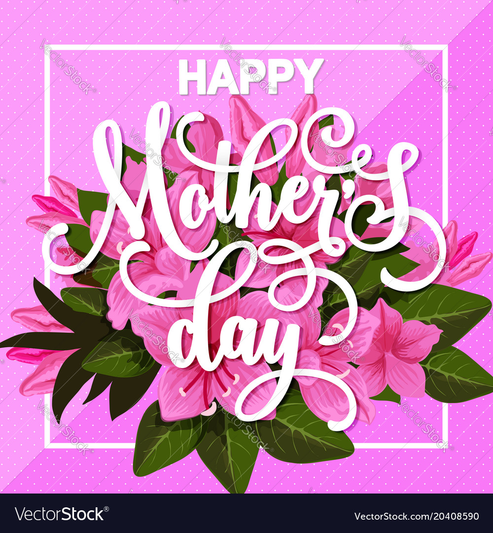 Happy mother day greeting card with spring flower vector image m4hsunfo