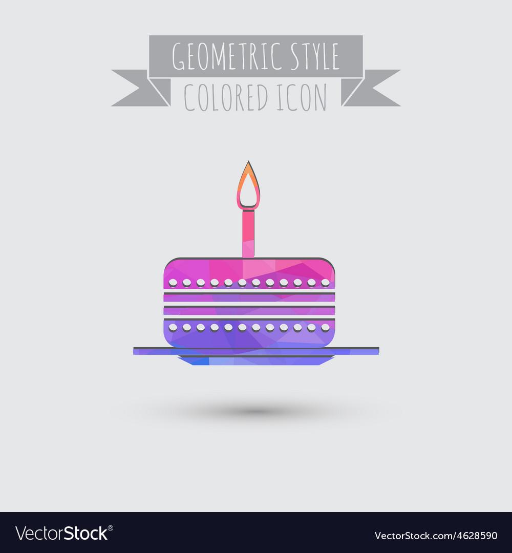 Icon birthday cake symbol of cake Celebrating the