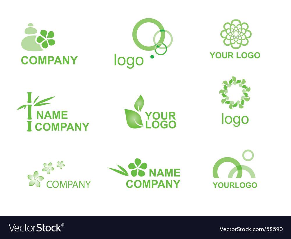 Logos bamboo vector image
