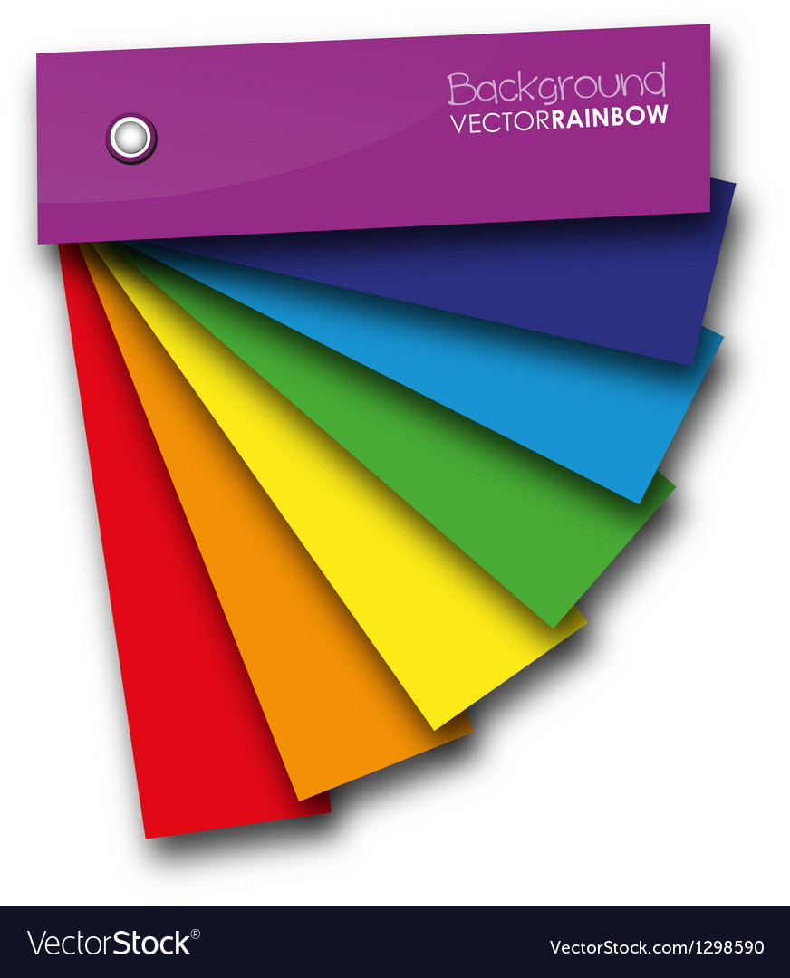 Rainbow book vector image