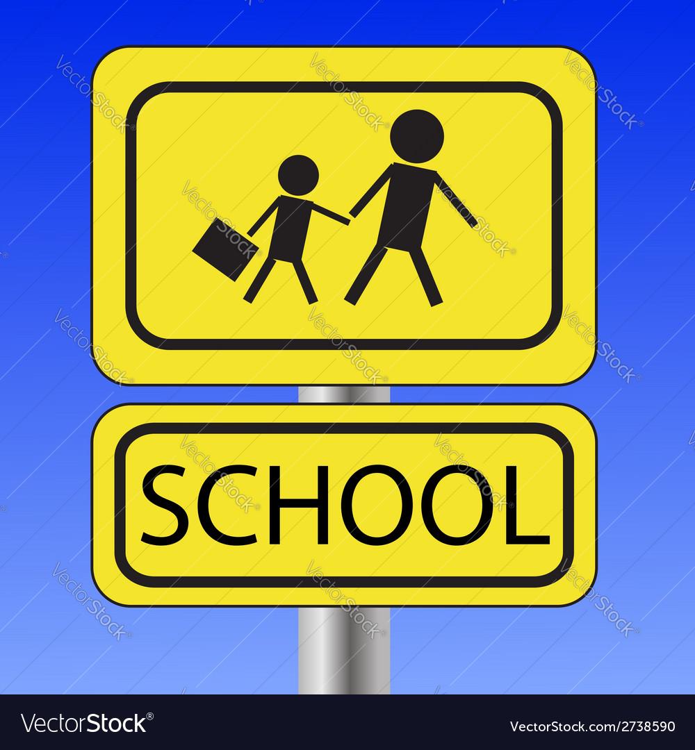 School sign vector image