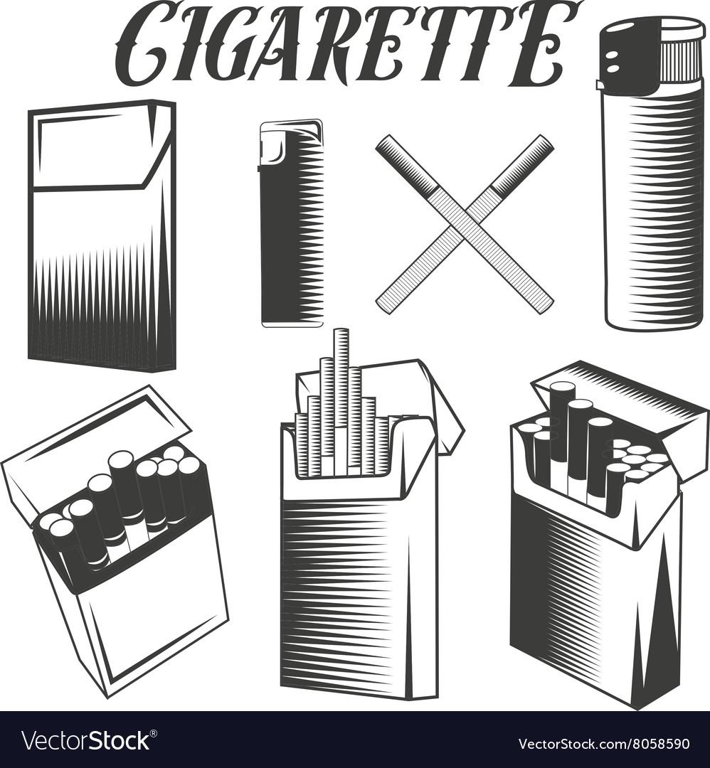 Set cigarette lighter and pack of